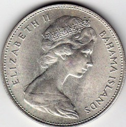 Münze > 1Dollar, 1966-1970 - Bahamas  - obverse