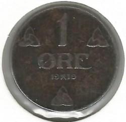 Moneda > 1öre, 1918-1921 - Noruega  - reverse