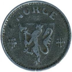 Moeda > 25ore, 1943-1945 - Noruega  - obverse
