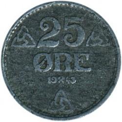 Moneda > 25öre, 1943-1945 - Noruega  - reverse