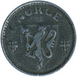 Moeda > 25ore, 1943-1945 - Noruega  - reverse