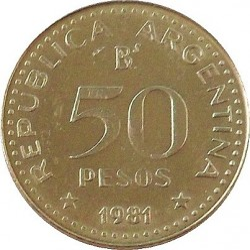 Moneda > 50pesos, 1980-1981 - Argentina  - obverse