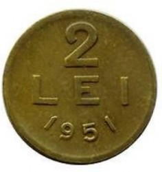 Moneta > 2lei, 1950-1951 - Romania  - reverse