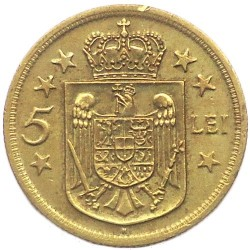 Moneta > 5lei, 1930 - Rumunia  - reverse