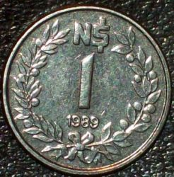 Moneda > 1nuevopeso, 1989 - Uruguay  - reverse