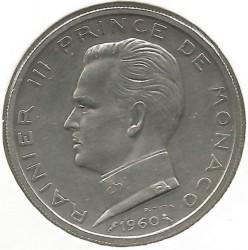 Moneta > 5frankai, 1960-1966 - Monakas  - obverse