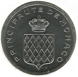 Monedă > 1centimă, 1976-1995 - Monaco  - reverse