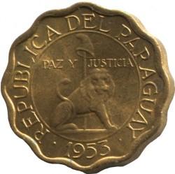 Монета > 10сентимос, 1953 - Парагвай  - obverse