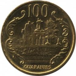 Coin > 100guaranies, 1993-2005 - Paraguay  - reverse