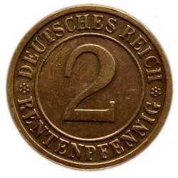 Moneda > 2rentenpfennig, 1923-1924 - Alemania  - reverse