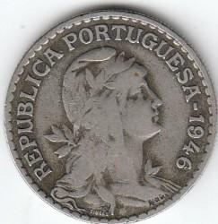 Монета > 1ескудо, 1927-1968 - Португалия  - obverse