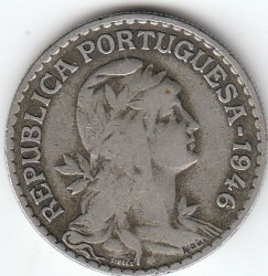 Монета > 1эскудо, 1927-1968 - Португалия  - reverse