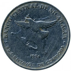Νόμισμα > 50Σεντάβος, 1994 - Νικαράγουα  - obverse