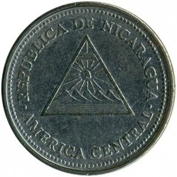 Монета > 1кордоба, 1997-2000 - Нікарагуа  - reverse