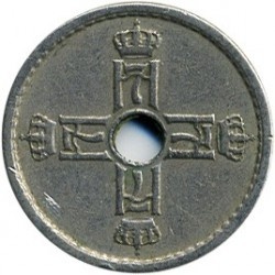 Moneda > 25ore, 1924-1950 - Noruega  - reverse