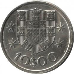 Монета > 10ескудо, 1971-1974 - Португалія  - reverse