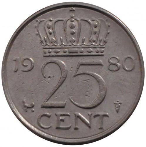 25 Cent 1950 1980 Niederlande Münzen Wert Ucoinnet