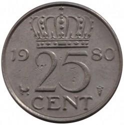 Münze > 25Cent, 1950-1980 - Niederlande  - reverse