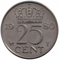 מטבע > 25סנט, 1950-1980 - הולנד  - reverse