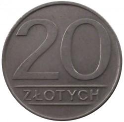 Кованица > 20злота, 1984-1988 - Пољска  - reverse