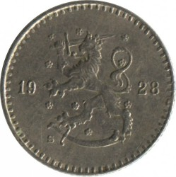 Münze > 25Penny, 1928 - Finnland  - reverse