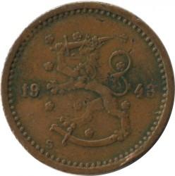 Münze > 50Penny, 1943 - Finnland  (Copper /brown color/) - obverse