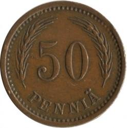 Münze > 50Penny, 1943 - Finnland  (Copper /brown color/) - reverse