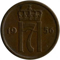 Moneta > 2erės, 1952-1957 - Norvegija  - obverse