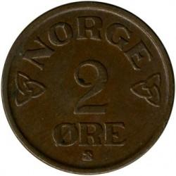 Moneta > 2erės, 1952-1957 - Norvegija  - reverse