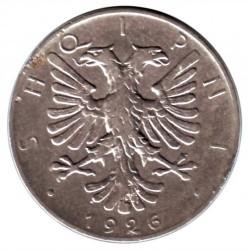 سکه > ½لِک, 1926 - آلبانی  - obverse