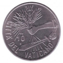 Minca > 10lire, 1984 - Vatikán  - reverse