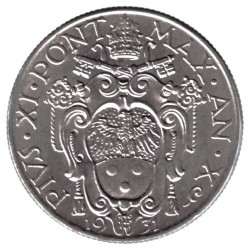 Монета > 1лира, 1929-1937 - Ватикан  - obverse