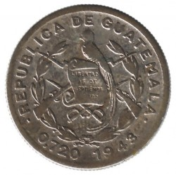 Moneda > 10centavos, 1925-1949 - Guatemala  - obverse