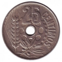 Монета > 25сентимос, 1934 - Испания  - reverse