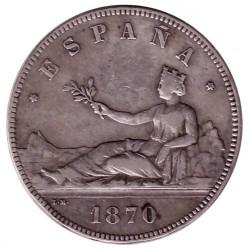 Монета > 5песет, 1869-1870 - Испания  - obverse