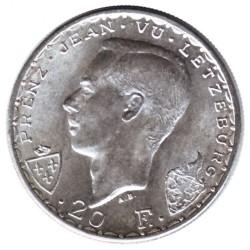 Moneta > 20franków, 1946 - Luksemburg  (600 rocznica śmierci - Jan Luksemburski) - obverse