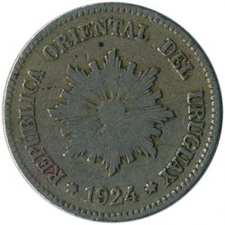 Moeda > 2centésimos, 1901-1941 - Uruguai  - reverse