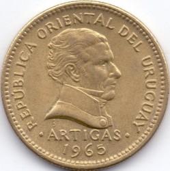 Monedă > 10peso, 1965 - Uruguay  - obverse