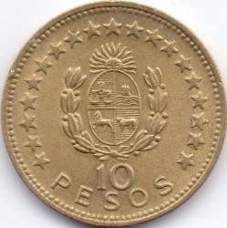 Monedă > 10peso, 1965 - Uruguay  - reverse