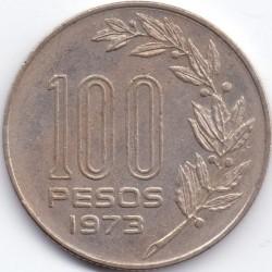 Moeda > 100pesos, 1973 - Uruguai  - reverse