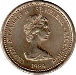 Монета > 1фунт, 1984 - Острова Святой Елены и Вознесения  - obverse