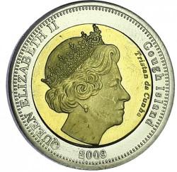 Moneta > 25pensów, 2009 - Tristan da Cunha  (Płomykówka zwyczajna (Wyspa Gough)) - obverse