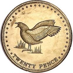 Moneta > 20pensów, 2009 - Tristan da Cunha  (Wydrzyk brunatny (Wyspa Gough)) - reverse
