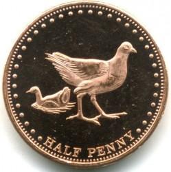 Moneta > ½pensa, 2009 - Tristan da Cunha  (Kokoszka atlantycka (Wyspa Gough)) - reverse