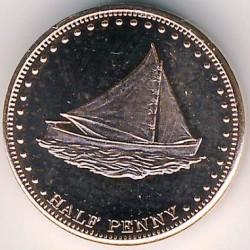 Moneta > ½pensa, 2008 - Tristan da Cunha  (Żaglówka (Wyspa Stoltenhoff)) - reverse
