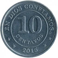 Münze > 10Centavos, 2007-2015 - Nicaragua   - reverse