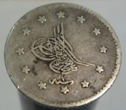Coin > 40para, 1861 - Ottoman Empire  (Silver /gray color/) - obverse