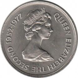 Moneta > 25pence, 1977 - Tristan da Cunha  (25° anniversario - Regno della regina Elisabetta II) - obverse