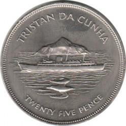 Moneta > 25pence, 1977 - Tristan da Cunha  (25° anniversario - Regno della regina Elisabetta II) - reverse