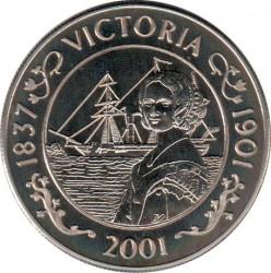 Moneta > 50pensów, 2001 - Wyspa Świętej Heleny  (100 rocznica śmierci - Królowa Victoria ) - reverse